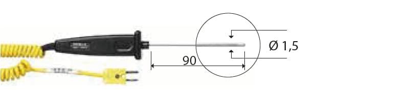 Zanurzeniowa termopara typu K DeltaOHM TP741/1