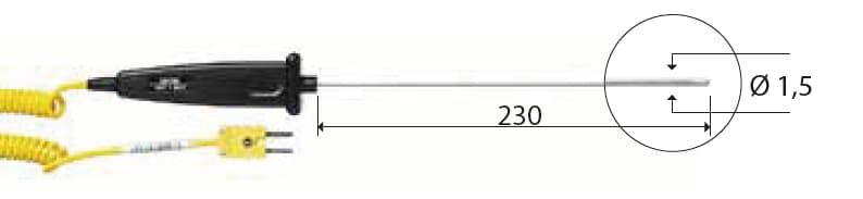 Zanurzeniowa termopara typu K DeltaOHM TP741/2