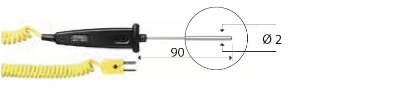 Zanurzeniowa termopara typu K DeltaOHM TP742/1