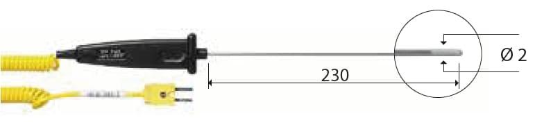 Zanurzeniowa termopara typu K DeltaOHM TP742/2