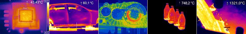 Kolaż zdjęć termowizyjnych