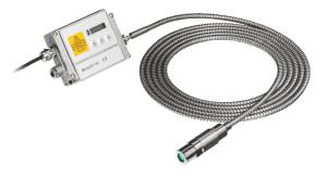 Pirometr stacjonarny Optris CTratio - widok z elektroniką