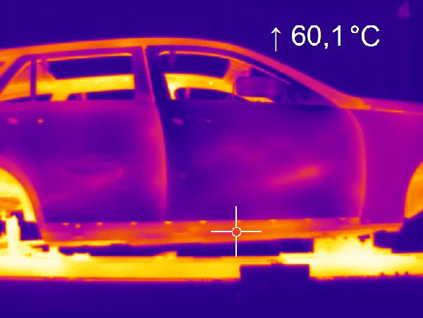Badanie rozkładu temperatury na powierzchni karoserii w procesie lakierowania