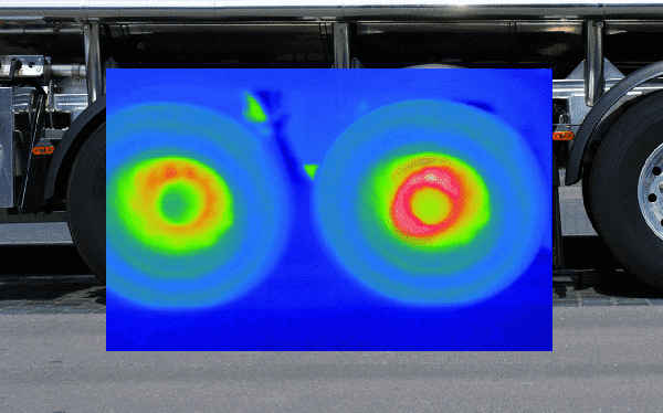 Bispektralny monitoring temperatury hamulców