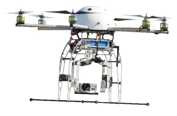 Kamera termowizyjna Optris PI Light Weight zainstalowana na dronie