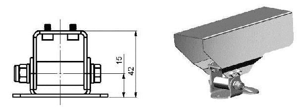 Osłona ochronna ACPIPH preinstalowana na uchwycie montażowym ACPIMB