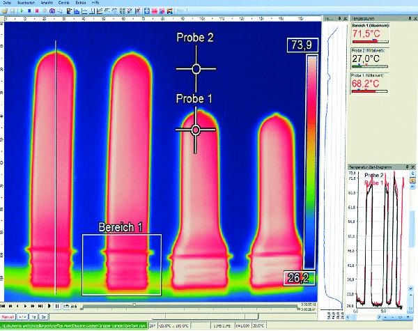 Pomiar temperatury preform butelek PET