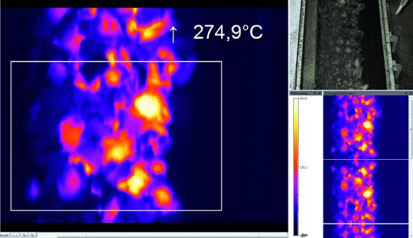 Pomiar temperatury wstęgi węgla