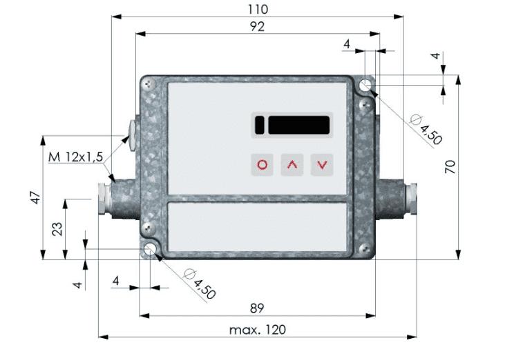 Skrzynka elektroniki pirometru CT - front