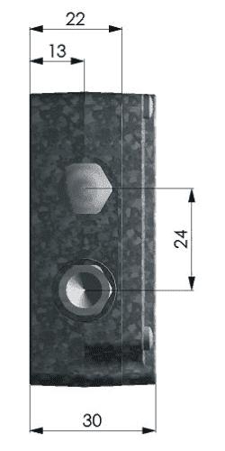 Skrzynka elektroniki pirometru CT - lewy