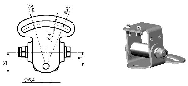 Uchwyt montażowy ACPIMB do kamer termowizyjnych Optris