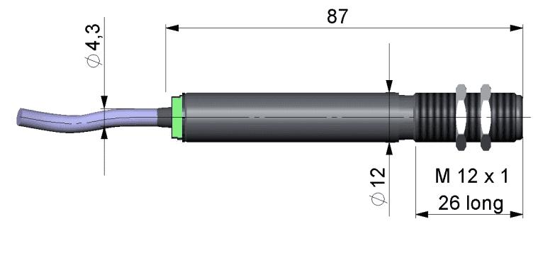 Wymiary głowicy pirometru CS LT15