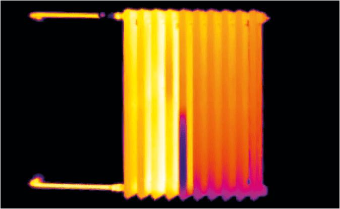 identyfikacja termowizyjna nieprawidlowej pracy grzejnika