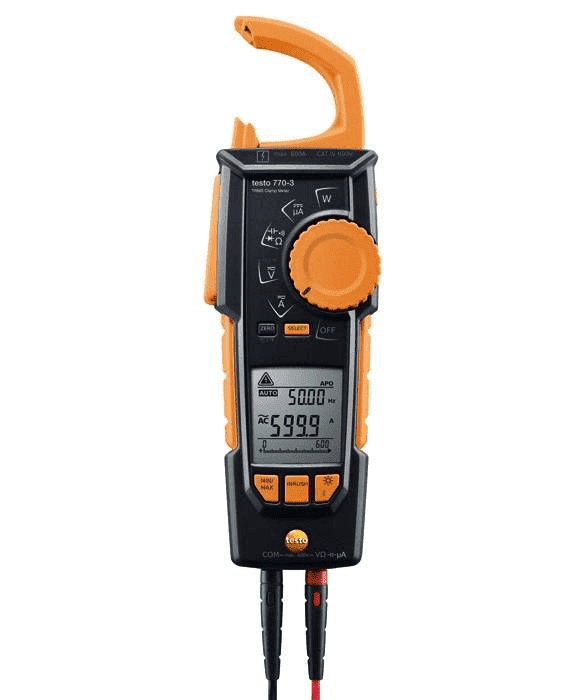 Cęgowy miernik napięcia i prądu Testo 770-3