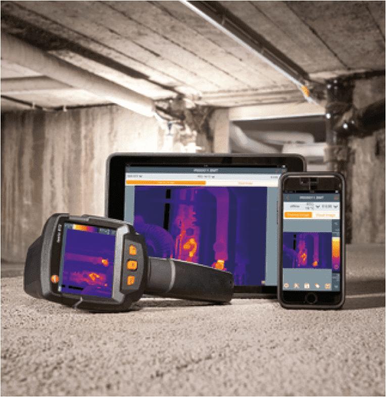 wspolpraca kamer termowizyjnych testo ze smartfonem lub tabletem
