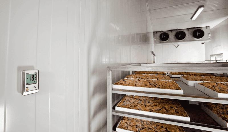 Monitorowanie temperatury w pomieszczeniach do przechowywania mrożonej żywności